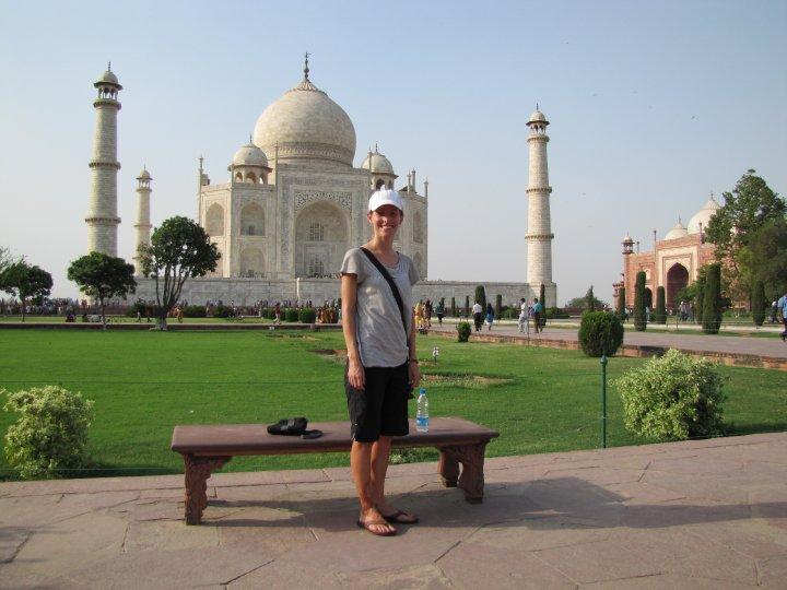 Kristi at the Taj Mahal in India