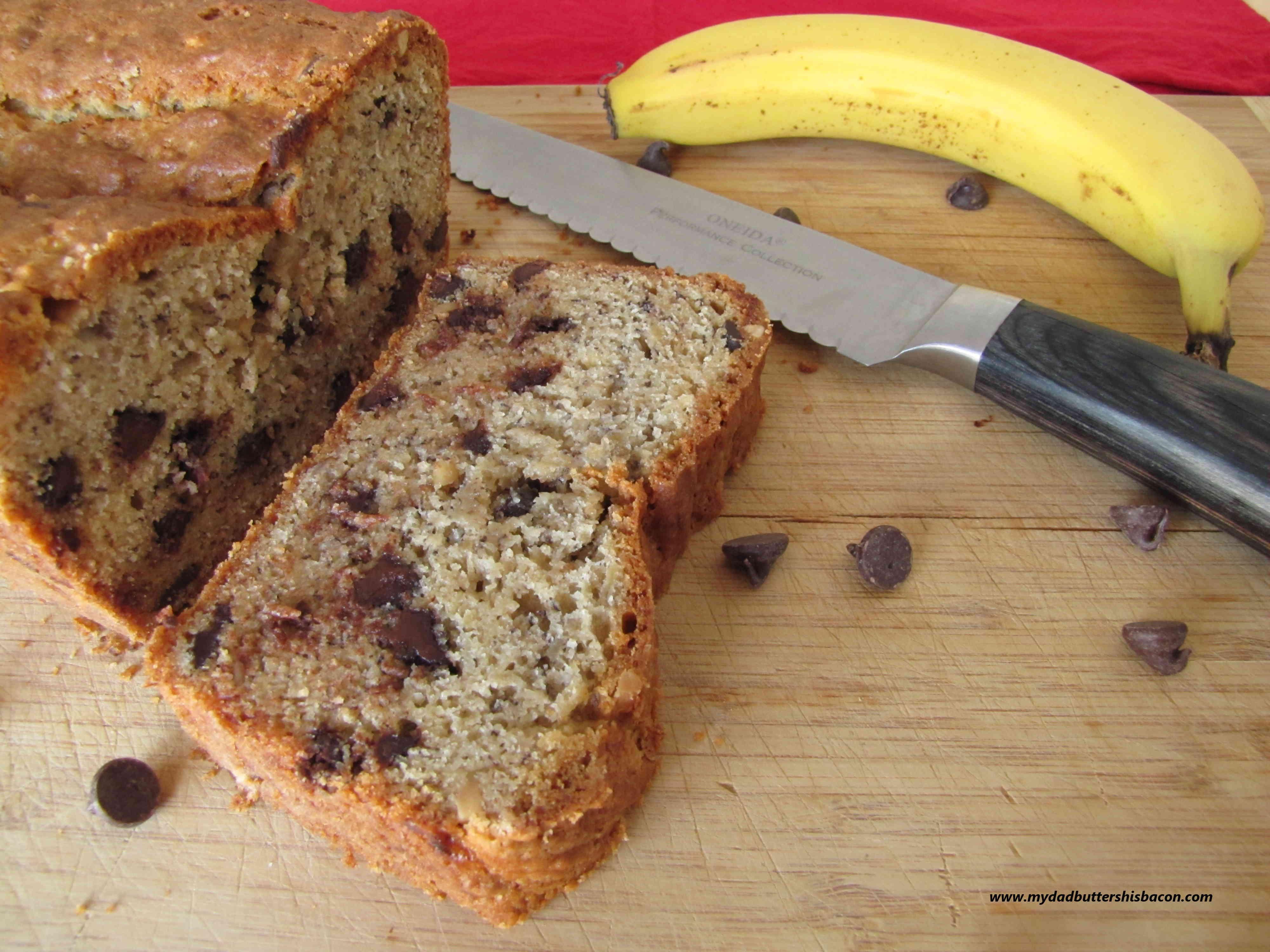 chocoate peanut banana bread