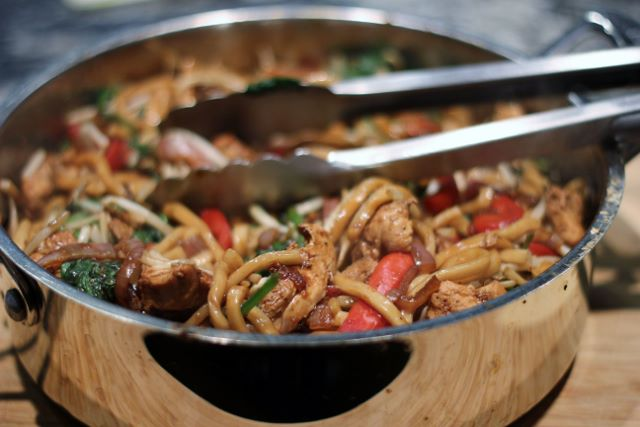 Phenomenal Asian Noodles with Chicken ready to be served - delicious