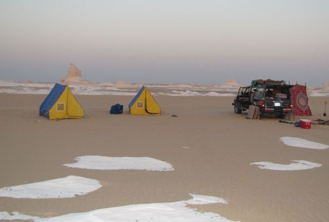 Camping in the black and white desert Egypt