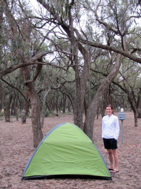Camping in the Australian bush