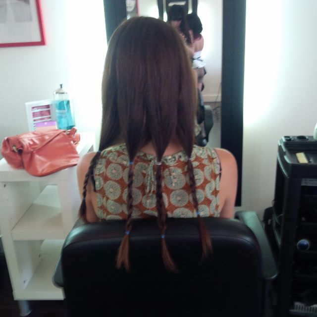 Before donating 8 inches of my hair to Pantene Beautiful Lengths